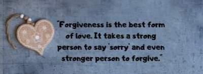 forgive for love dp status