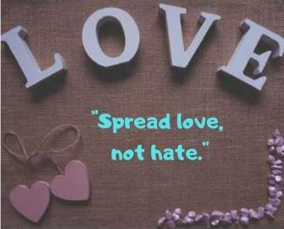 spread love for all hatred for none dp wallpaper