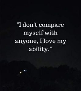Status On Dont Compare With Others