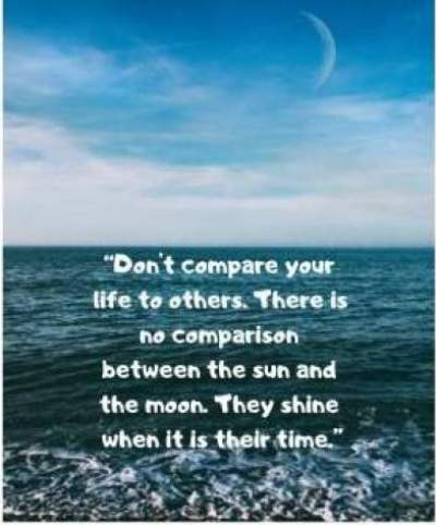 Status quotes on don't compare your life to others