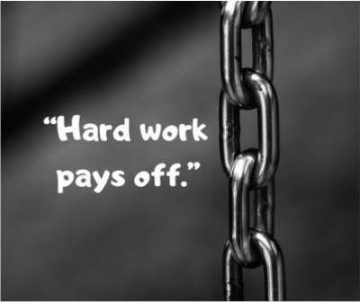 hard work pays off status quotes for fb and whatsapp