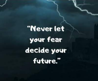 fear status quotes for whatsapp