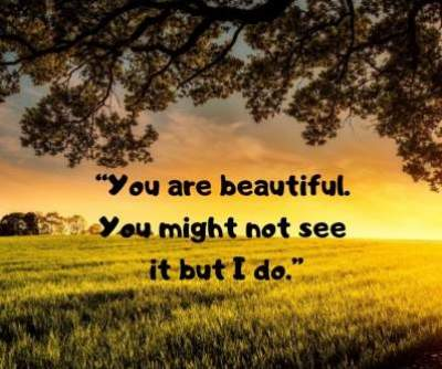 beautiful face status quotes in english