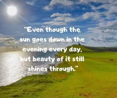 beauty status quotes on sun