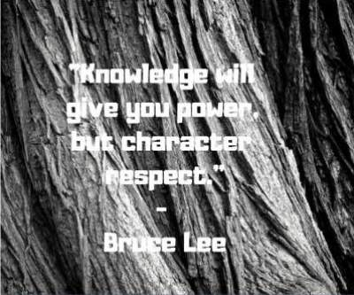 bruce lee quotes respect and knowledge