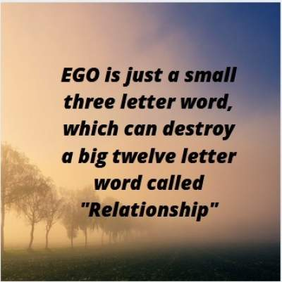 Status quotes on ego ends relationship