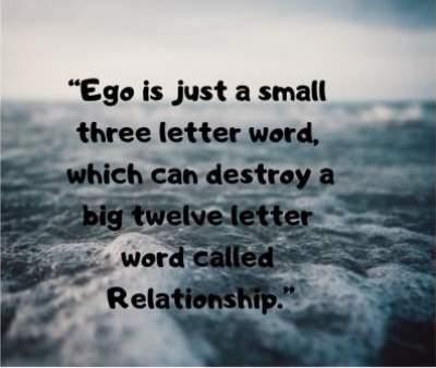 ego in relationship status quotes