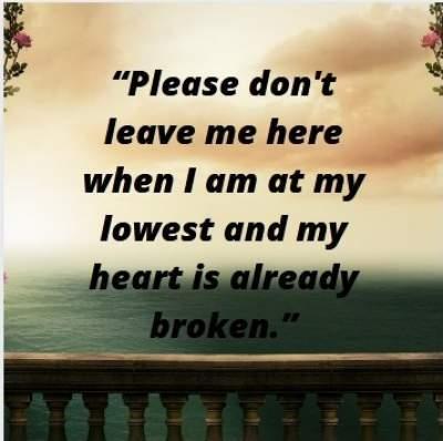 emotional status for broken heart