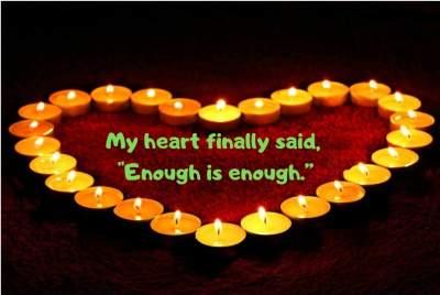 enough is enough whatsapp status quotes