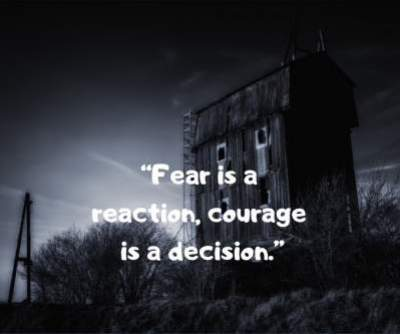 fear courage status quotes