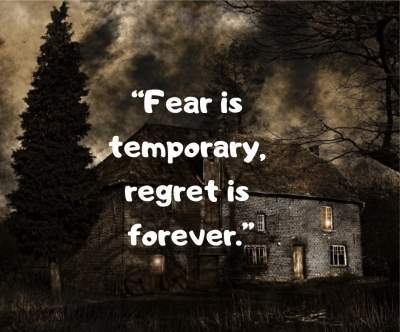 fear and regret status quotes