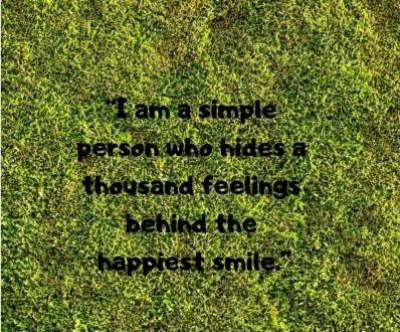 hiding feelings behind a smile status quotes for whatsapp