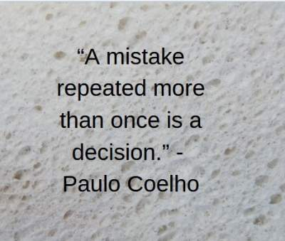 inspirational quotes on mistake by Paulo Coelho