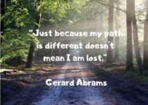 short inspirational quotes on path by Gerard Abrams