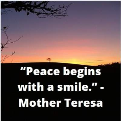 inspirational quotes on peace and smile by mother teresa