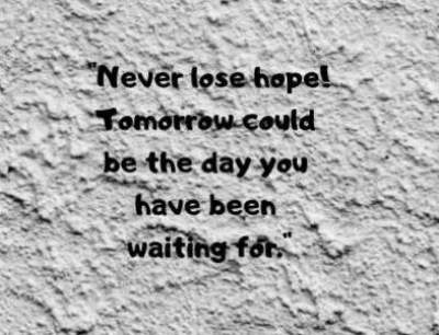 never lose hope status quotes for whatsapp and fb
