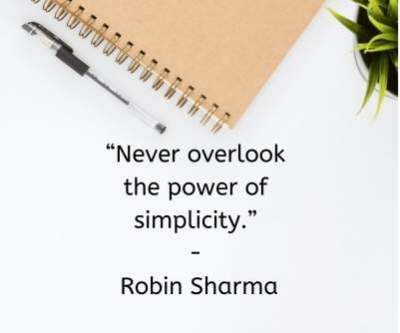 status quotes on power of simplicity for whatsapp and fb