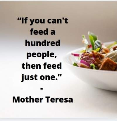 inspirational quotes on feeding the hungry