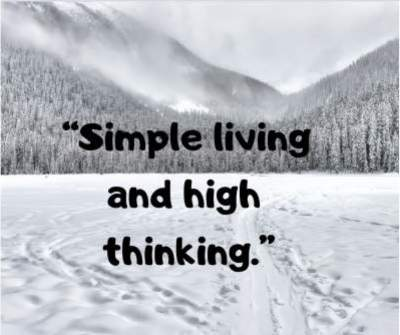 simple living high thinking status quotes for fb and whatsapp
