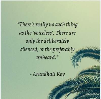 Inspirational quotes on voiceless people