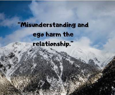 ego and misunderstandings in relationship status quotes for whatsapp