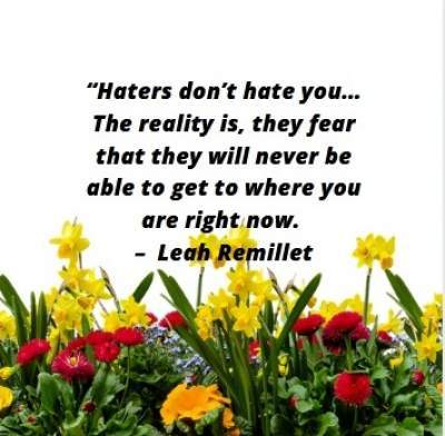 positive haters quotes