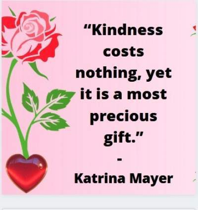 kindness costs nothing status quote