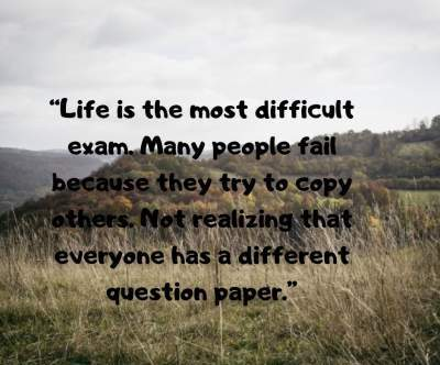 quotes on life is a test fro dp image