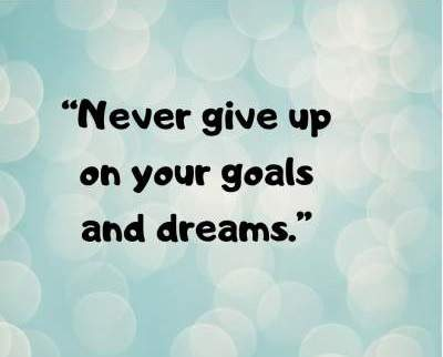 never give up on goals dp status for fb and whatsapp
