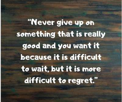 never give up status quotes for fb and whatsapp