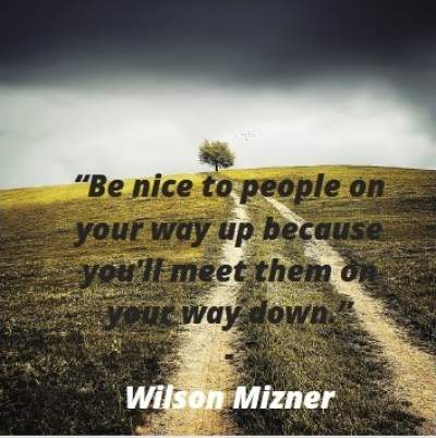 nice positive quotes by Wilson Mizner