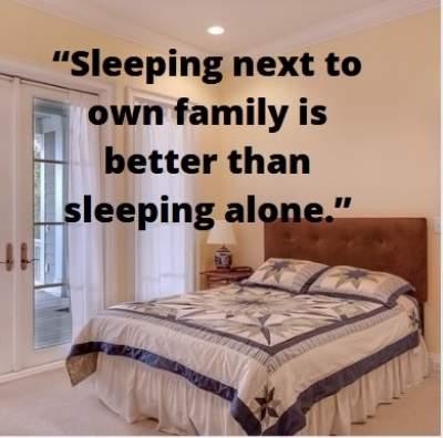 sleeping alone status