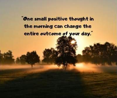 quotes on small positive thoughts