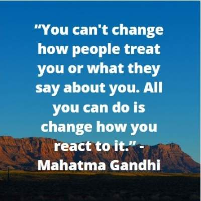 stay positive quotes by Mahatma Gandhi
