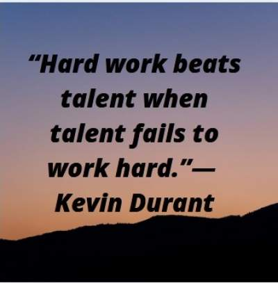 quotes by Kevin Durant on talent without hard work for whatsapp