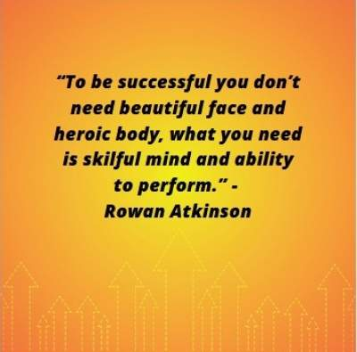 to be successful status quotes by Rowan Atkinson