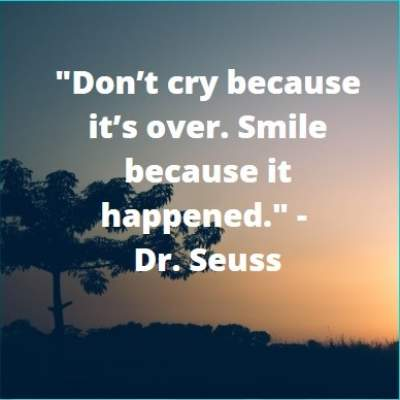 don't cry but smile status
