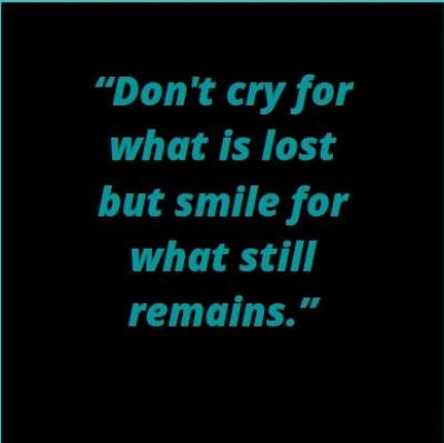 don't cry status with quotes