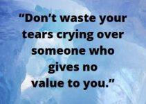 don't waste your tears status for whatsapp