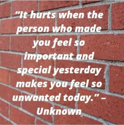 feeling hurt status