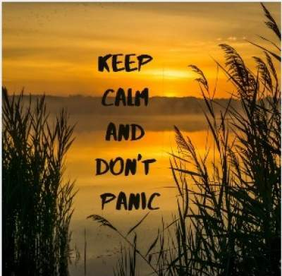 keep calm and don't panic quotes for whatsapp status