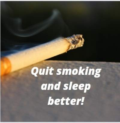 Status quotes quit smoking and sleep better