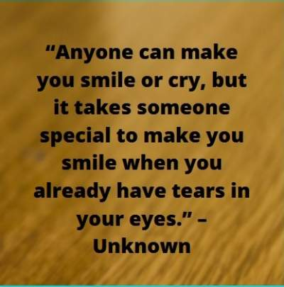smile with tears status with quotes