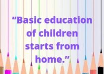 status quotes on basic education of children