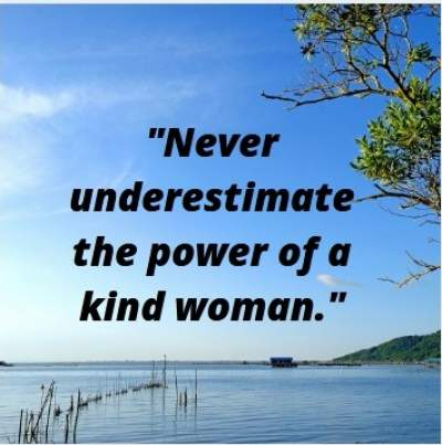 status quotes on kind woman