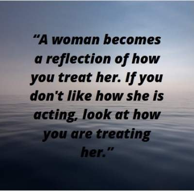 woman reflection quotes for whatsapp status