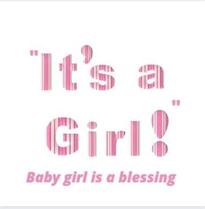 baby girl is a blessing status image