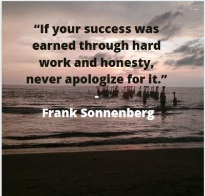 earned success quotes by Frank Sonnenberg