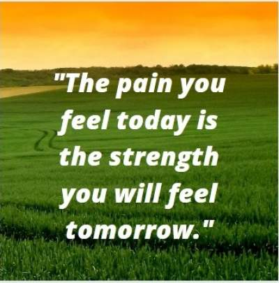 pain is strength status