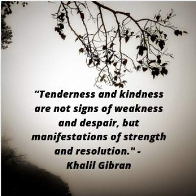 positive quotes by Khalil Gibran on kindness